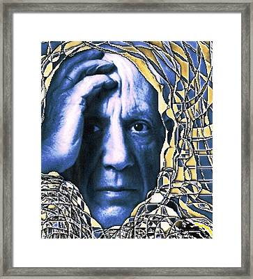 Portrait Of Picasso Framed Print by Dan Twyman