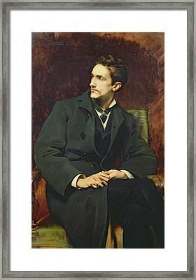 Portrait Of Robert Count Of Montesquiou-fezensac Framed Print by Henri Lucien Doucet