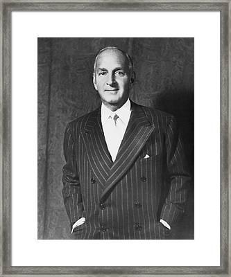 Portrait Of Robert Lehman Framed Print by Underwood Archives