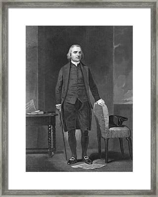 Portrait Of Sam Adams Framed Print by Underwood Archives