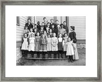 Portrait Of School Children Framed Print by Underwood Archives