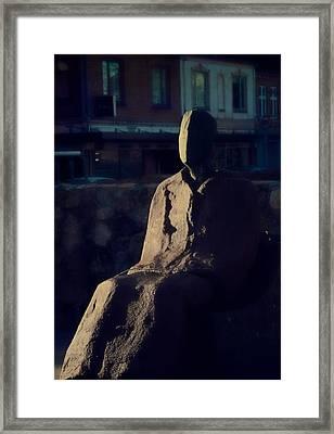 Portrait Of Self Framed Print by Odd Jeppesen