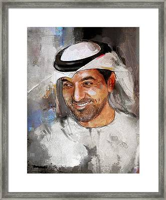 Portrait Of Sheikh Ahmed Bin Saeed Al Maktoum 2 Framed Print by Maryam Mughal