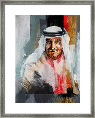 Portrait Of Sheikh Ahmed Bin Saeed Al Maktoum 3 Framed Print by Maryam Mughal