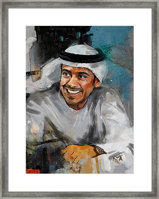 Portrait Of Sheikh Sultan Bin Tahnoon Al Nahyan Framed Print by Maryam Mughal