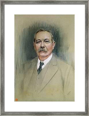 Portrait Of Sir Arthur Conan Doyle  Framed Print by William Henry Gates