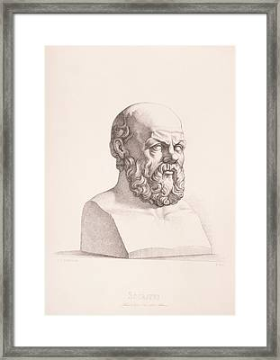 Portrait Of Socrates Framed Print by CC Perkins