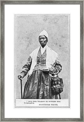 Portrait Of Sojourner Truth Framed Print by Underwood Archives