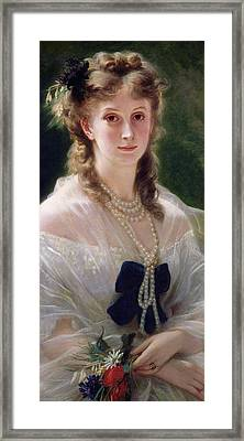 Portrait Of Sophie Troubetskoy  Framed Print by Franz Xaver Winterhalter
