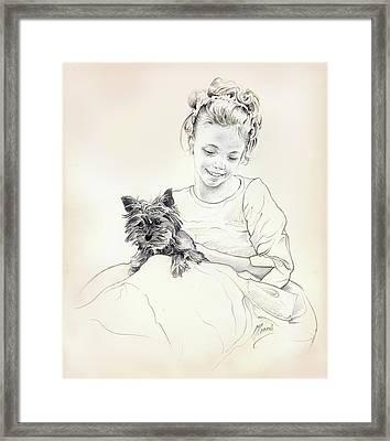 Portrait Of Sylwia Framed Print by Anna Ewa Miarczynska