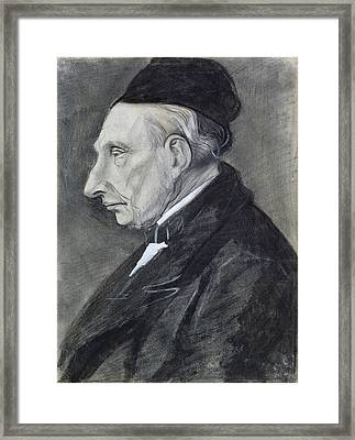 Portrait Of The Artists Grandfather Framed Print by Vincent Van Gogh