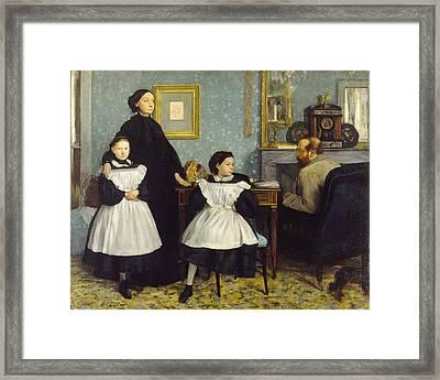Portrait Of The Bellelli Family Framed Print by Edgar Degas