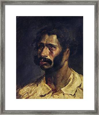 Portrait Of The Carpenter Of The Medusa, C.1812 Oil On Canvas Framed Print by Theodore Gericault