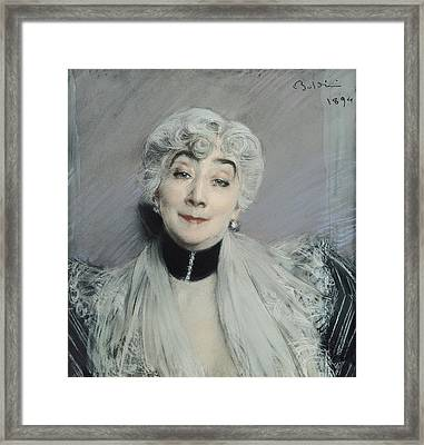 Portrait Of The Countess De Martel De Janville, Known As Gyp 1850-1932, 1894 Framed Print by Giovanni Boldini