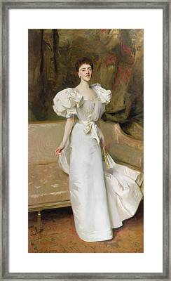 Portrait Of The Countess Of Clary Aldringen Framed Print by John Singer Sargent