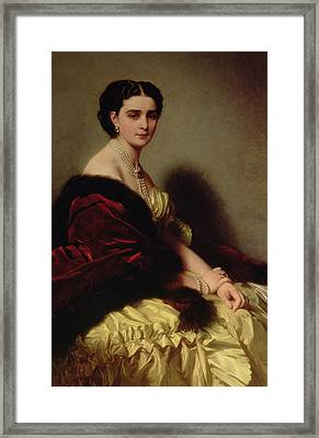 Portrait Of The Countess Sophie Naryshkina Framed Print by Franz Xaver Winterhalter