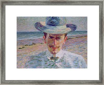 Portrait Of The Lawyer Framed Print by Umberto Boccioni