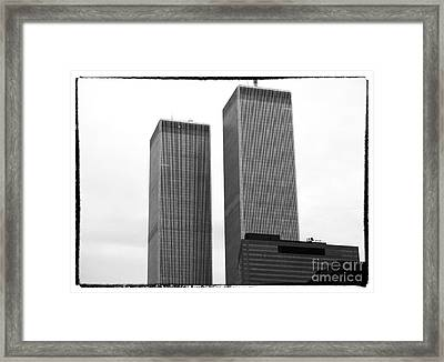Portrait Of The Towers 1990s Framed Print by John Rizzuto