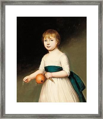 Portrait Of Thomas Allason Framed Print by Francis Alleyne