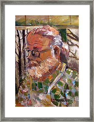 Portrait Of Tim Framed Print by Charlie Spear