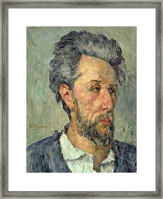 Portrait Of Victor Chocquet, 1876-77 Oil On Canvas Framed Print by Paul Cezanne