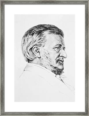 Portrait Of Wagner Framed Print by Anonymous