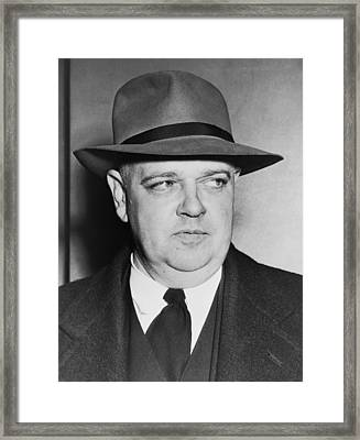 Portrait Of Whittaker Chambers Framed Print by Fred Palumbo