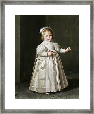 Portrait Of Willem Van Der Muelen, Age Framed Print by Johan Cornelisz van Loenen