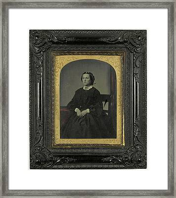 Portrait Woman, Anonymous Framed Print by Artokoloro