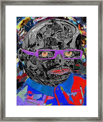 Portraiture Of Passion V3 Framed Print by Kenneth James