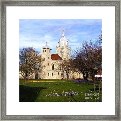 Portsmouth Cathedral At Springtime Framed Print by Terri Waters