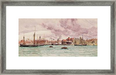 Portsmouth Harbor Framed Print by John Brett