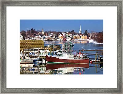 Portsmouth Lobster Boat Framed Print by Eric Gendron