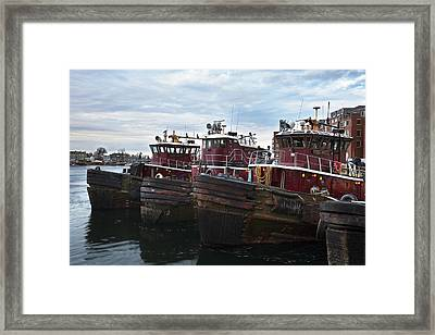 Portsmouth Tugs Framed Print by Eric Gendron