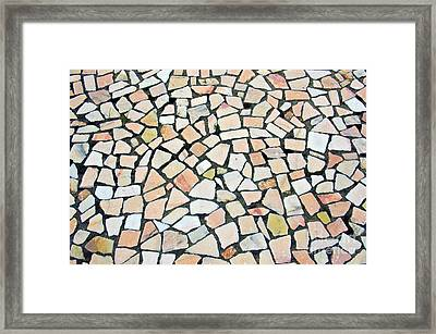 Portuguese Pavement Framed Print by Carlos Caetano