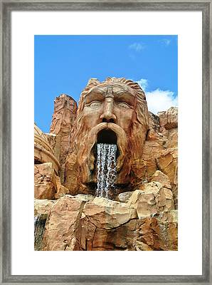 Poseidon Rocks Universal Studios Orlando Framed Print by Larry Stolle