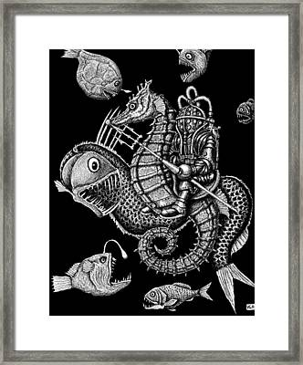 Poseidon Framed Print by Vitaliy Gonikman