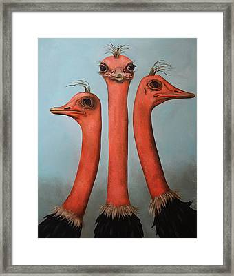 Posers 2 Framed Print by Leah Saulnier The Painting Maniac