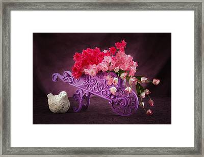 Posies In A Pushcart Still Life Framed Print by Tom Mc Nemar