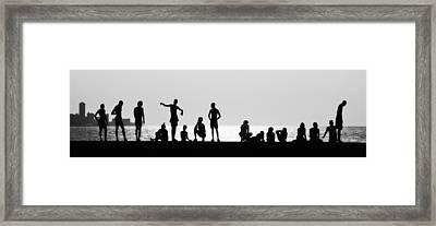 Posing Framed Print by Erik Brede