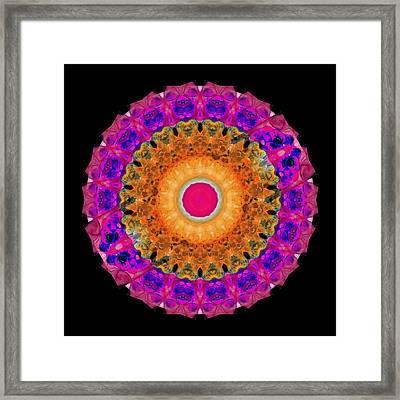 Positive Energy 1 - Mandala Art By Sharon Cummings Framed Print by Sharon Cummings