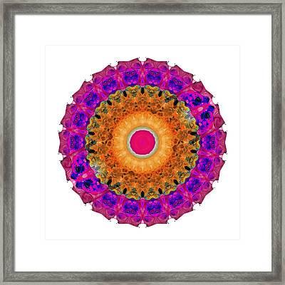 Positive Energy 2 - Mandala Art By Sharon Cummings Framed Print by Sharon Cummings
