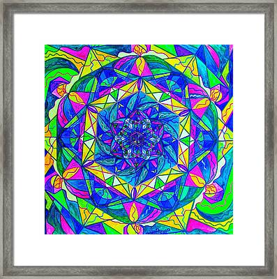 Positive Focus Framed Print by Teal Eye  Print Store