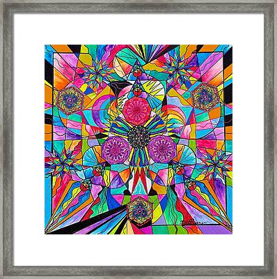 Positive Intention Framed Print by Teal Swan