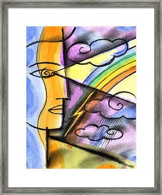 Positive Thinking Framed Print by Leon Zernitsky