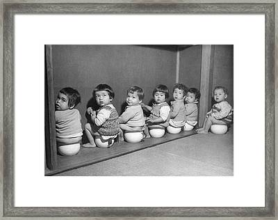 Post-war Japanese Orphanage Framed Print by Underwood Archives