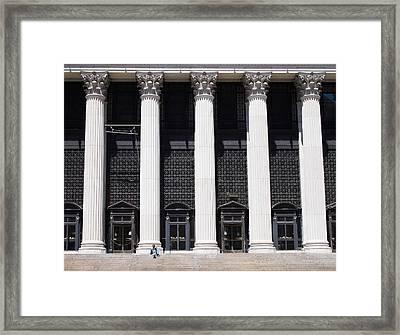 Postal Columns Framed Print by Cornelis Verwaal
