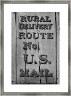 Postal Service Framed Print by Dan Sproul