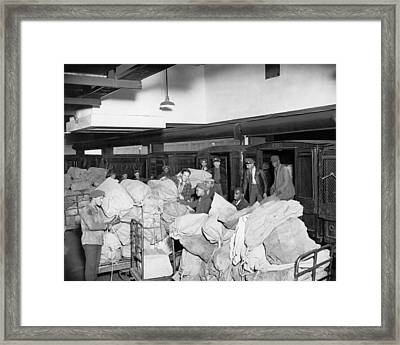Postal Service Workers Framed Print by Underwood Archives