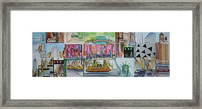 Postcards From New York City Framed Print by Jack Diamond